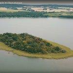 die Burgwallinsel aus der Quadrocopter-Perspektive