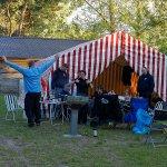 auf dem Campingplatz auf Warnitzer Seite