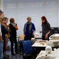 Antonia Hofmann und Tatjana Held (v.r.n.l.) - Diplom-Restauratorinnen und Vorsitzende von KOREGT e. V. - stellten uns die Studiengänge Konservierung und Restaurierung/Grabungstechnik vor